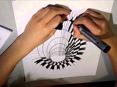 Drawing Time: 3D illusion Hole