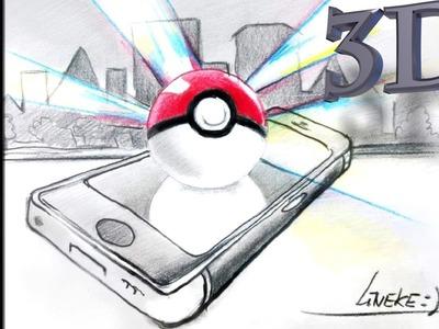 Hoe teken je een Pokeball en telefoon. 3D # 34