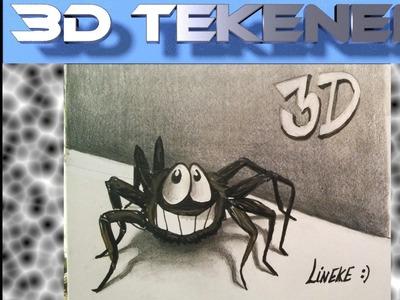Hoe teken je een spin. 3D tekenen. #11