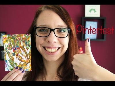 Pintertest: DIY marble kaarten maken