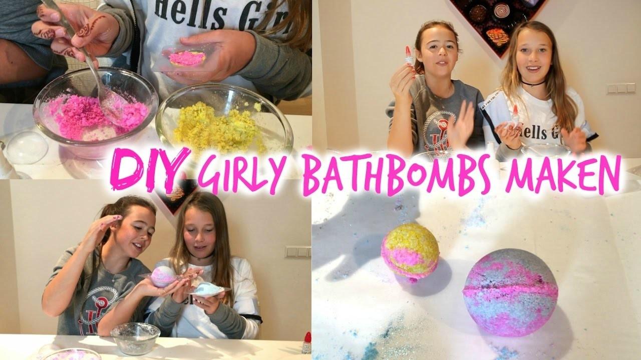 DIY GIRLY BATH BOMBS MAKEN MET STRUGGLES!(geïnspireerd door LUSH)
