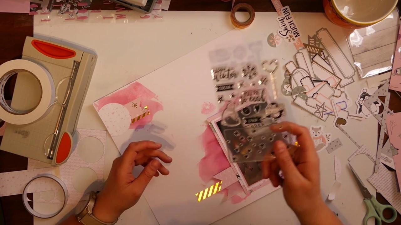Scrapbook Layout Process Video #5 By Noek