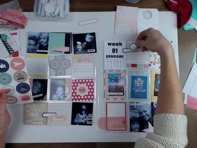 Project Life (pocket page) - Scrapbooking process video