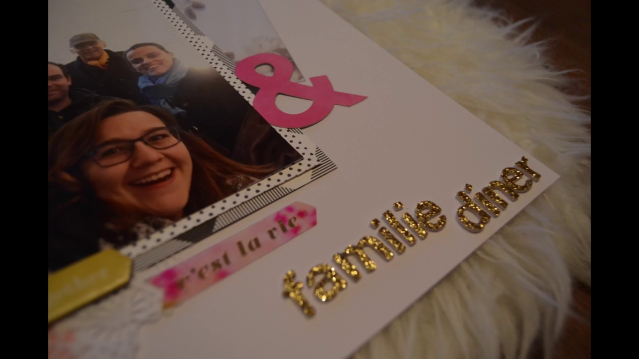 Scrapbook Layout Process Video #10 Het familiediner