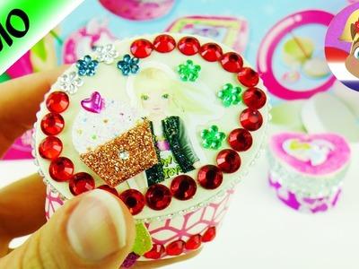 Sieraden bewaren DIY Topmodel en diamanten | Schattige bewaardoosjes versieren en mooi maken