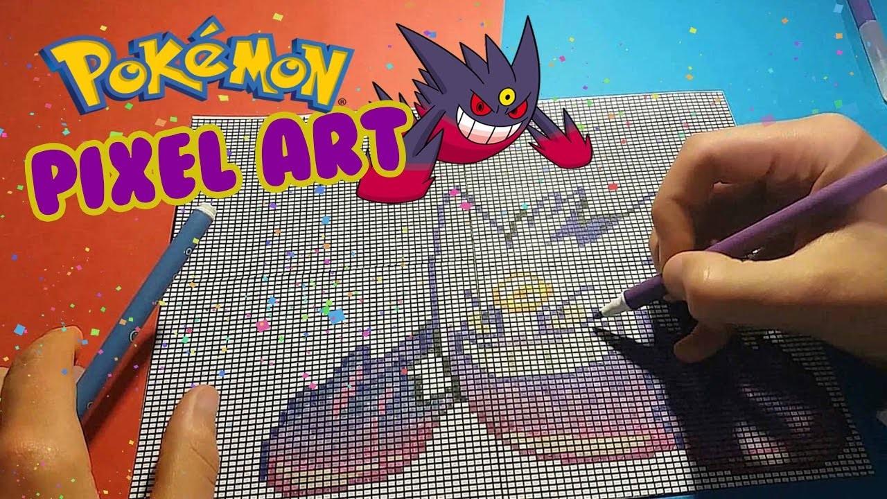Pixel Art Pokemon Halloween Mega Ectoplasma Gengar Dessin