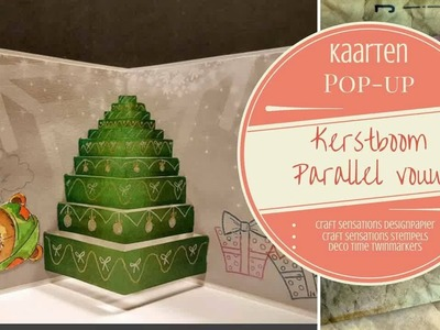 Pop-up Parallel vouw Kerstboom Deel 2