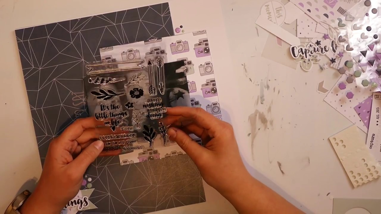 Scrapbook Layout Process Video #11 Zus & Zo met de DLSKIT