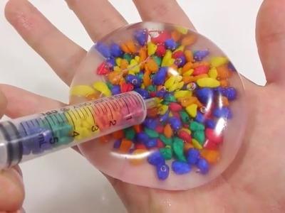 Hoe maak je ❤️ Slijm Kleuren Kristal Zand Water Ballon Achterschip