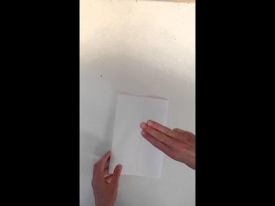 En zakje maken van papier