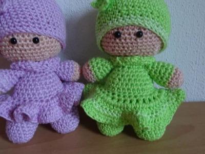 Mijn diavoorstelling Crochet Amigurumi Little Doll Roos en Lotje