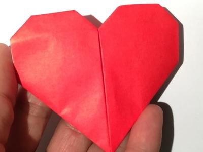 Origami Hartje Vouwen, easy!