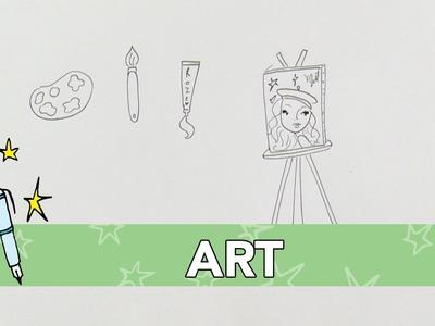 Jill DIY: Art tekenen
