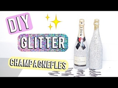 DIY ❤ Glitter champagnefles | Beautygloss
