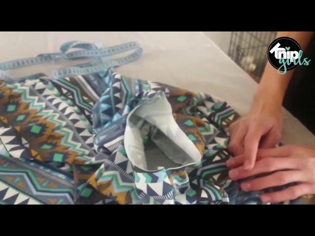 DIY: poncho maken | KNIPgirls Jasmijn