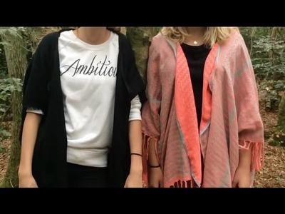DIY: van sjaal naar vest | KNIPgirls Julia & Sarah