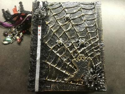 Scrapbook mini album spooky gothic haloween