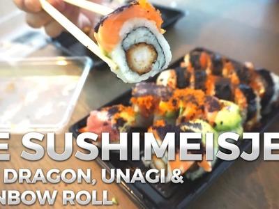 De Sushimeisjes - Red Dragon, Rainbow en Unagi Roll | Sushi bestellen in Den Haag