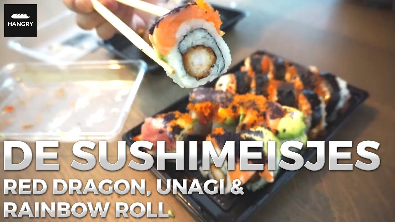 De Sushimeisjes - Red Dragon, Rainbow en Unagi Roll   Sushi bestellen in Den Haag