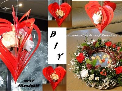 DIY: paper heart Mother's day gift I Muttertagsgeschenke Herz bastelnI Frühlingsdeko mrsT45andabit