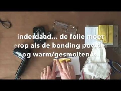 No Minc - foil with heattool - Scrapbooking process video - #tutorial