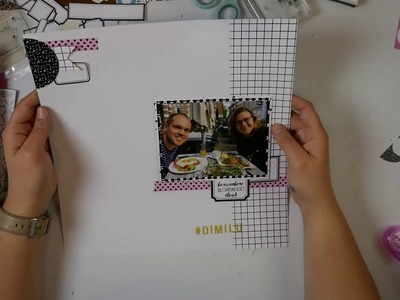Scrapbook Layout Proces Video #12 DIMILU
