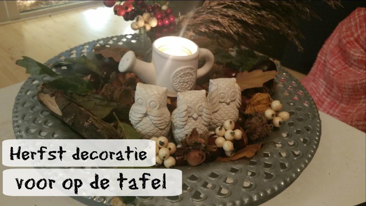DIY- herfst decoratie voor op tafel maken.