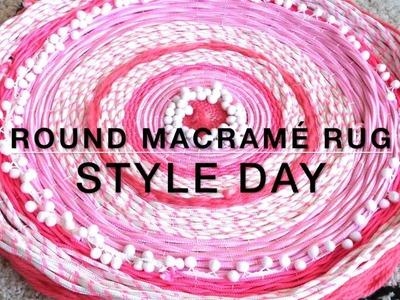 Easy DIY round macrame rug - STYLE DAY