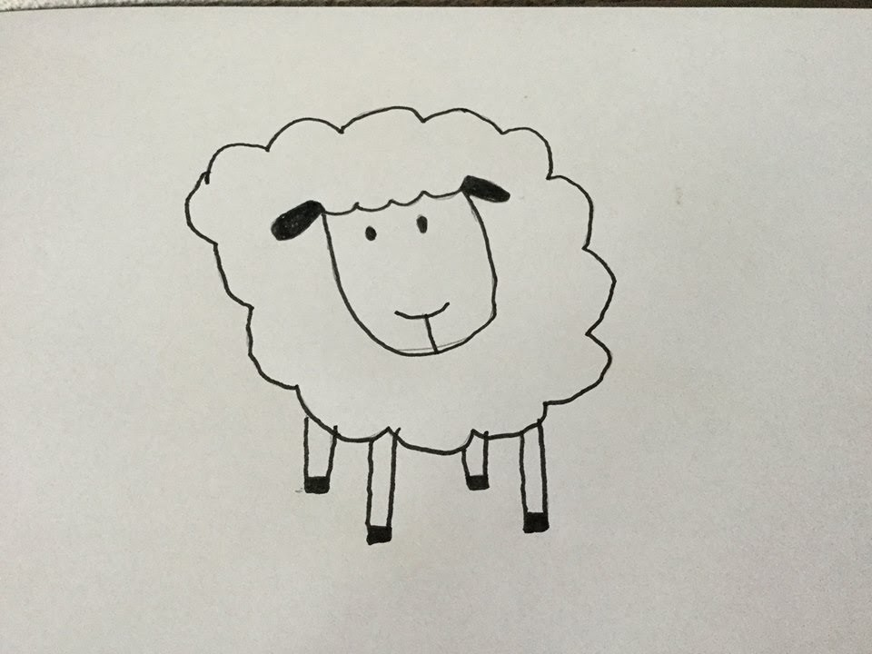 Hoe teken ik een schaap? (How to draw a sheep) - Diy & life Mama