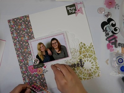 Scrapbook Layout Process Video  #14 Sweet