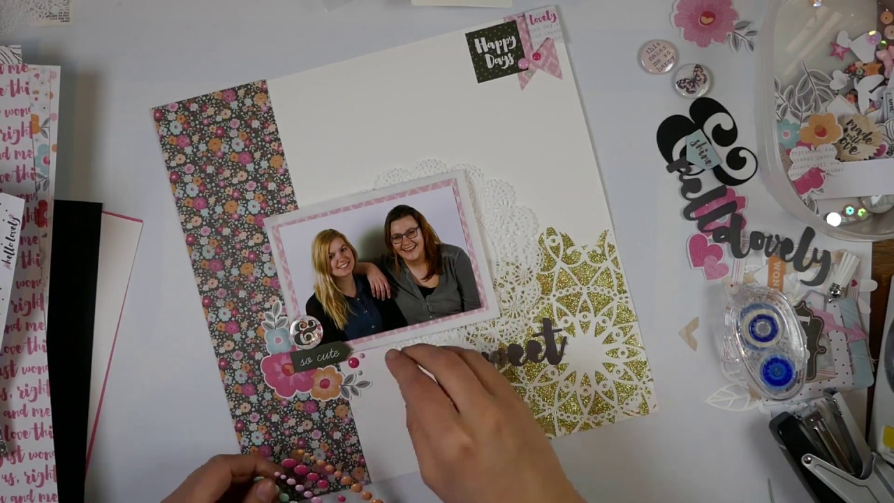 Scrapbook Layout Process Video  #14 Sweet