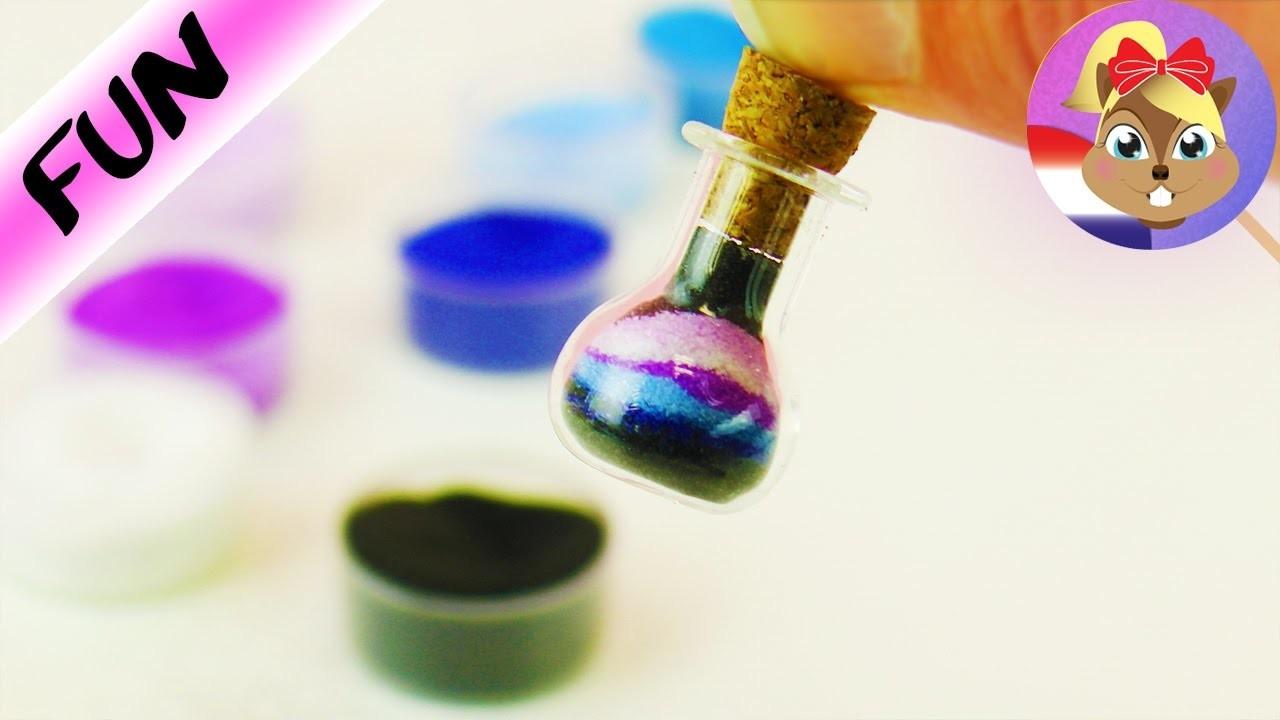 GALAXY in flesje | DIY galaxy LOOK in miniflesje als sleutelhanger | Sablimage zand in flesje