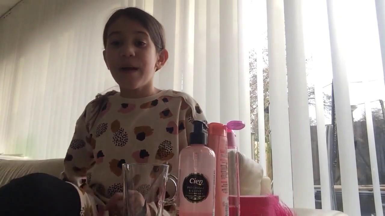 Slijm  met  shampo  en  handzeep