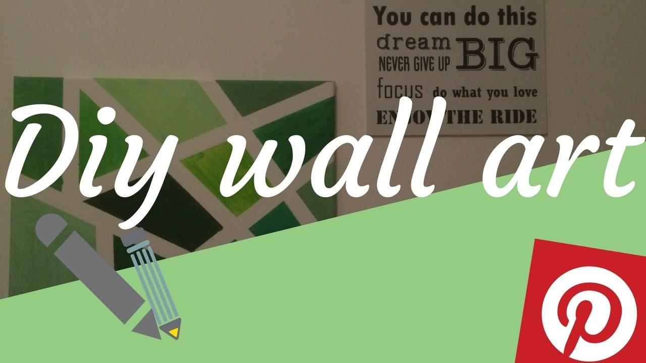 Diy wall art from Pinterest | Romy