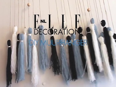 ELLE Decoration DIY: muurhanger van breigaren