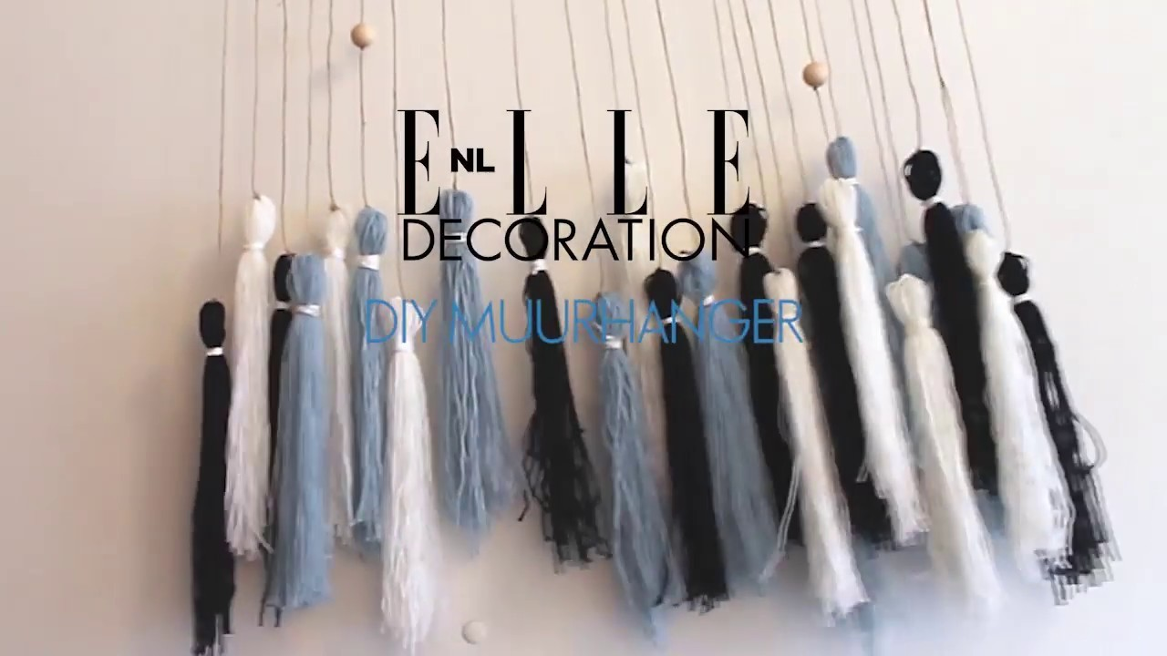 ELLE Decoration DIY: muurhanger van breigaren