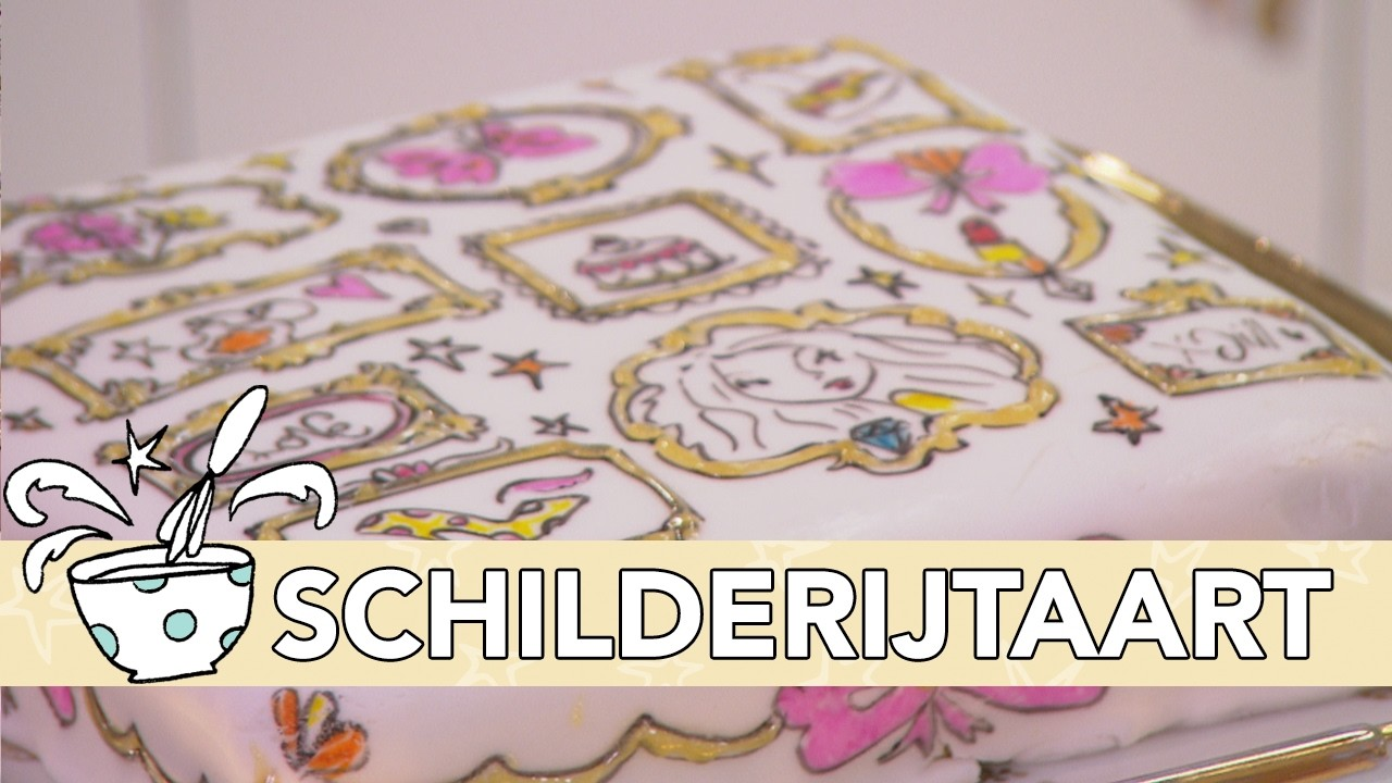 Jill DIY: Schilderijtaart