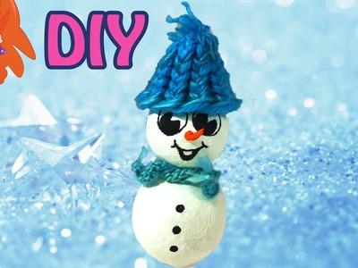 Sneeuwpop DIY - knutselen met papier-maché