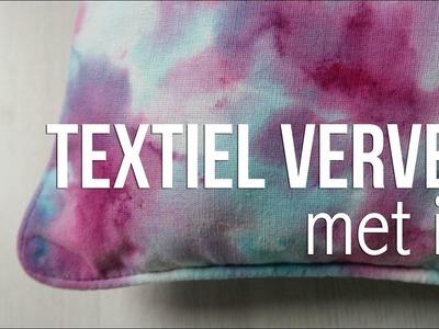 DIY ★ Textiel verven met ijs