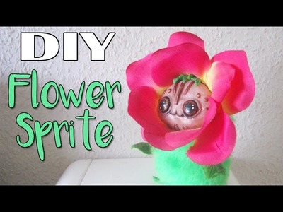 DIY FLOWER ART OOAK Sprite Art Doll Tutorial