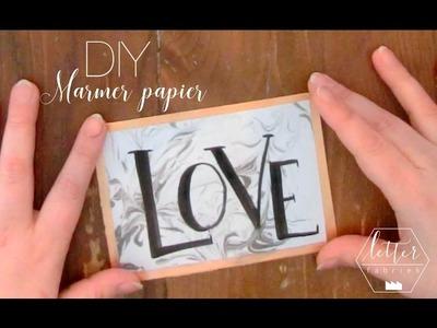 DIY MARMER papier & HANDLETTERING