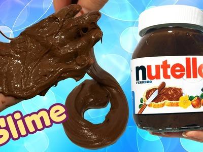 Maak zelf Nutella slijm! Lijm + wasmiddel (geen lensvloeistof!)