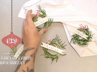 DIY Rozemarijn krans naamkaartjes | Westwing stijltips