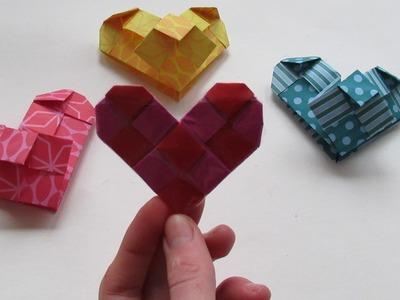 Origami, hartje(valentijn)