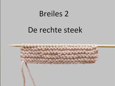 Leren breien: Breiles 2, de rechte steek