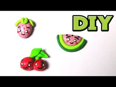 CHIBI FRUIT CLAY CHARMS | DIY FIMO TUTORIAL