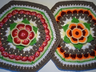 Crochet Hexagon Flower
