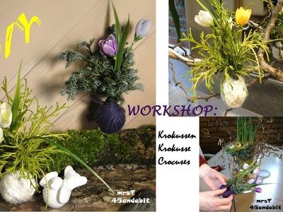 DIY:Frühlingsblumendeko.Osterdeko basteln I voorjaarsbloemschikken I spring decoration mrsT45andabit