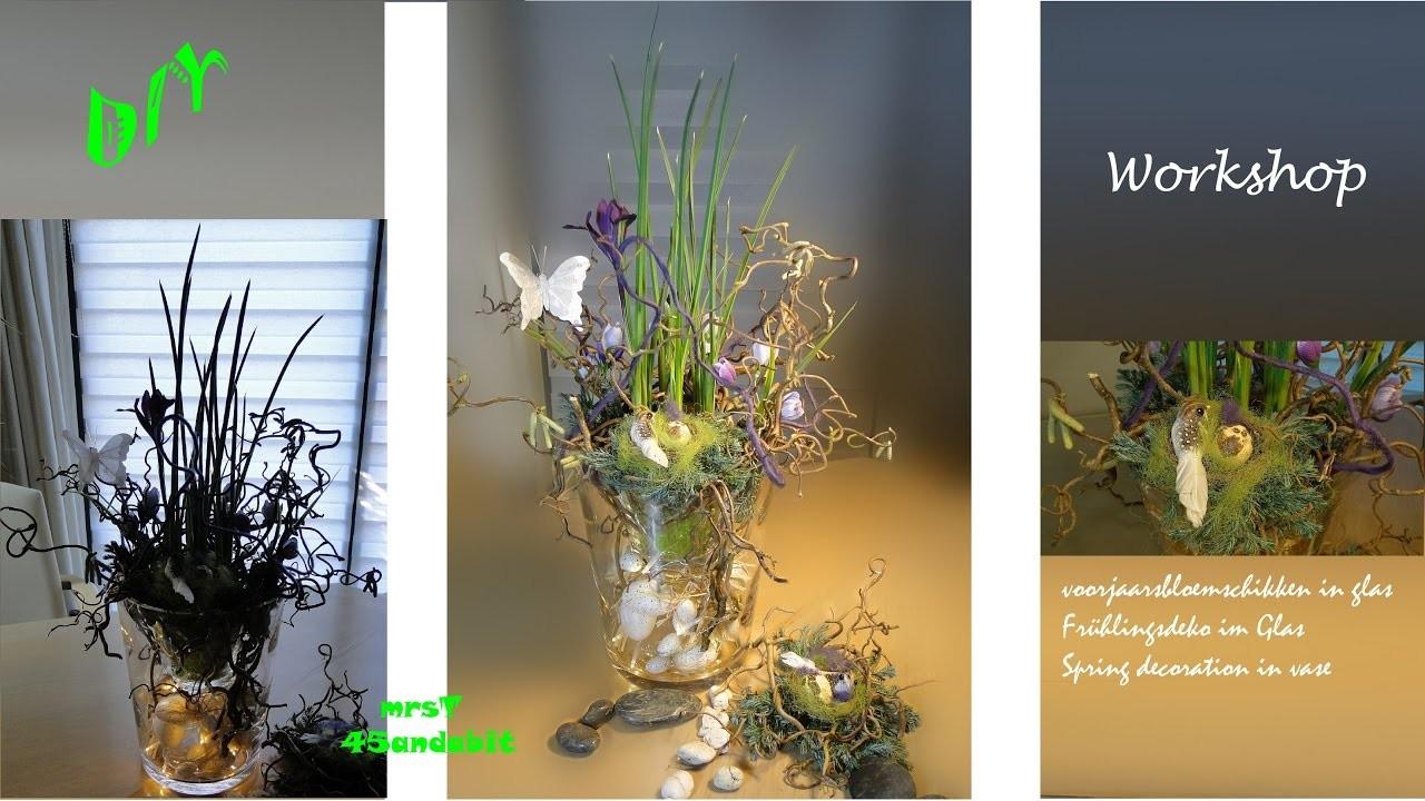 DIY voorjaarsbloemschikken I Frühlings-Blumen deko im glas Osterdeko I Flower deco mrsT45andabit