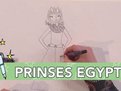 Jill DIY: Egyptische Prinses Tekenen